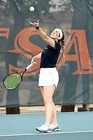 SAN ANTONIO, TX - FEBRUARY 3, 2019: The University of Texas at San Antonio Roadrunners defeat the University of the Incarnate Word Cardinals 4-0 at the UTSA Tennis Center. (Photo by Jeff Huehn)