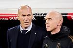 Zinedine Zidane coach of Real Madrid during La Liga match between Real Madrid and RC Celta de Vigo at Santiago Bernabeu Stadium in Madrid, Spain. February 16, 2020. (ALTERPHOTOS/A. Perez Meca)