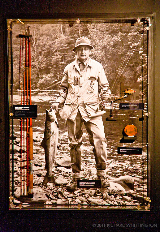 Display in the American Fly Fishing Museum on the Battenkill River in Manchester, Vermont.