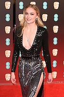 Sophie Turner<br /> at the 2017 BAFTA Film Awards held at The Royal Albert Hall, London.<br /> <br /> <br /> ©Ash Knotek  D3225  12/02/2017