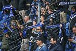 Die Fans des SVW beim Spiel in der 3. Liga, SV Waldhof Mannheim - Türgücü München.<br /> <br /> Foto © PIX-Sportfotos *** Foto ist honorarpflichtig! *** Auf Anfrage in hoeherer Qualitaet/Aufloesung. Belegexemplar erbeten. Veroeffentlichung ausschliesslich fuer journalistisch-publizistische Zwecke. For editorial use only. DFL regulations prohibit any use of photographs as image sequences and/or quasi-video.