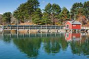 York River from the John Hancock Wharf in York, Maine.