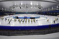 SCHAATSEN: HEERENVEEN: 02-12-2018, IJsstadion Thialf, clinic SKATE4AIR, ©foto Martin de Jong