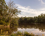 May 5, 2018. Riegelwood, North Carolina.<br /> <br /> The water intake system of the city of Wilmington is located 50 miles downstream from the Chemours plant. The city is the largest city effected by the GenX contamination of the Cape Fear River. <br /> <br /> The Chemours Company, a spin off from DuPont, manufactures many chemicals at its plant in Fayetteville, NC. One of these, commonly referred to as GenX, is part of the process of teflon manufacturing. Chemours has been accused of dumping large quantities of GenX into the Cape Fear River and polluting the water supply of city's down river and allowing GenX to leak into local aquifers.