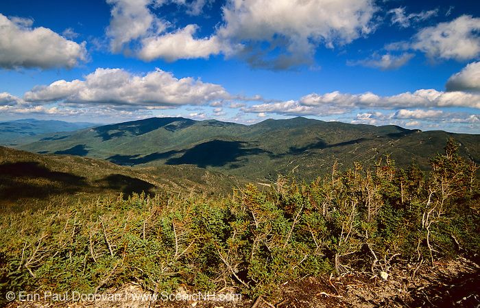 Pinkham Notch from Glen Boulder Trail in the White Mountains, New Hampshire USA.