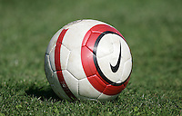 MAR 11, 2006: Quarteira, Portugal:  Nike soccer ball