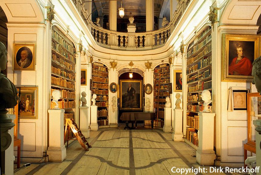 Deutschland, Herzogin Anna Amalia-Bibliothek im grünen Schloss in Weimar, UNESCO-Weltkulturerbe