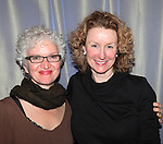 Mary Shultz & Lisa Banes.attending the 'Go Back To Where You Are' First Day of Rehearsals at Playwrights Horizons' in New York City.