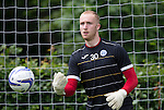 St Johnstone FC Training...<br /> Goalkeeper Mark Hurst<br /> Picture by Graeme Hart.<br /> Copyright Perthshire Picture Agency<br /> Tel: 01738 623350  Mobile: 07990 594431