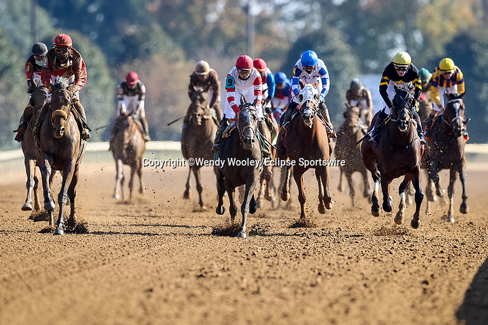 November 6, 2020: Rockertry, ridden by Irad Ortiz, Jr., wins the Thoroughbred Aftercare Alliance Stakes on Breeders' Cup Championship Friday at Keeneland on November 6, 2020: in Lexington, Kentucky. Wendy Wooley/Eclipse Sportswire/CSM