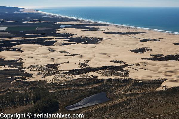 aerial photograph of Black Lake and dunes, Arroyo Grande, San Luis Obispo County, California