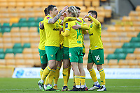 9th January 2021; Carrow Road, Norwich, Norfolk, England, English FA Cup Football, Norwich versus Coventry City; Kenny McLean of Norwich City celebrates with team mates as he scores for 1-0 in the 6th minute