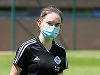 Noa Corbeels (16) of OHL pictured before a female soccer game between Standard Femina de Liege and Oud Heverlee Leuven on the 10th and last matchday in play off 1 of the 2020 - 2021 season of Belgian Scooore Womens Super League , saturday 29 th of May 2021  in Angleur , Belgium . PHOTO SPORTPIX.BE | SPP | SEVIL OKTEM