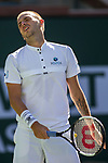 March 8, 2019: Daniel Evans (GBR) reacts during his match where he was defeated by Stan Wawrinka (SUI) 6-7, 6-3, 6-3 at the BNP Paribas Open at the Indian Wells Tennis Garden in Indian Wells, California. ©Mal Taam/TennisClix/CSM
