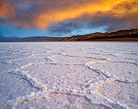 Salt polygons. Near Badwater. Death Valley National Park, California.