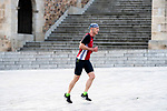 A man run during the first day of liftning of the confinement restrictions in Caceres, Extremadura. 02 May 2020(Alterphotos/Francis Gonzalez)