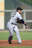 Scottsdale Scorpions infielder Dante Bichette Jr. (22) during an Arizona Fall League game against the Surprise Saguaros on October 16, 2014 at Surprise Stadium in Surprise, Arizona.  Surprise defeated Scottsdale 7-3.  (Mike Janes/Four Seam Images)