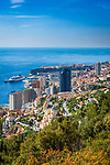 Fuerstentum Monaco, an der Côte d'Azur, Uebersicht | Principality of Monaco, on the French Riviera (Côte d'Azur), overview