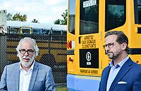M. Rhéal Fortin, candidat pour le Bloc Québécois  et Le chef du Bloc Québécois, Yves-François Blanchet visite l'entreprise Lion Électrique,le 17 septembre 2021, dans le cadre des élections fédérales 2021.<br /> <br /> L'entreprise se spécialise dans la fabrication d'autobus électriques.<br /> <br /> M. Blanchet a fait la visite a compagnie du président fondateur, M. Marc Bédard ainsi que de M. Rhéal Fortin, candidat pour le Bloc Québécois dans la circonscription de Rivière-du-Nord.<br /> <br /> Mathieu Tye