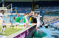 Leeds United's Jack Harrison celebrates scoring his side's third goal <br /> <br /> Photographer Alex Dodd/CameraSport<br /> <br /> The EFL Sky Bet Championship - Leeds United v Fulham - Wednesday 24th June 2020 - Elland Road - Leeds<br /> <br /> World Copyright © 2020 CameraSport. All rights reserved. 43 Linden Ave. Countesthorpe. Leicester. England. LE8 5PG - Tel: +44 (0) 116 277 4147 - admin@camerasport.com - www.camerasport.com<br /> <br /> Photographer Alex Dodd/CameraSport<br /> <br /> The Premier League - Newcastle United v Aston Villa - Wednesday 24th June 2020 - St James' Park - Newcastle <br /> <br /> World Copyright © 2020 CameraSport. All rights reserved. 43 Linden Ave. Countesthorpe. Leicester. England. LE8 5PG - Tel: +44 (0) 116 277 4147 - admin@camerasport.com - www.camerasport.com
