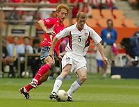 Midfielder John O'Brien. The USA tied South Korea, 1-1, during the FIFA World Cup 2002 in Daegu, Korea.