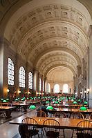 Boston Public Library, Boston, MA,  Bates Hall, architect McKim Mead & White
