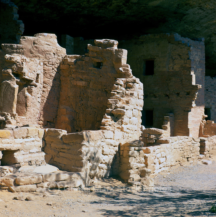 Mesa Verde National Park, Colorado, USA - 'Spruce Tree House', an Ancestral Puebloan aka Anasazi Cliff Dwelling and Ruins