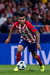 Angel Correa of Atletico de Madrid in action during the UEFA Champions League 2017-18 match between Atletico de Madrid and Chelsea FC at the Wanda Metropolitano on 27 September 2017, in Madrid, Spain. Photo by Diego Gonzalez / Power Sport Images
