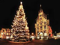 Kerstboom voor het stadhuis van Gouda