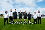 Referee Mike Sexton and his team before the County Senior hurling Final between Kilmoyley and Saint Brendan's at Austin Stack park on Sunday.