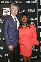 New York, NY - June 23 : Chaz Ebert and Steve James attend the New York Premiere of Life Itself<br /> held at the Film Society of Lincoln Center Walter Reade Theater<br /> on June 23, 2014 in New York City. Photo by Brent N. Clarke / Starlitepics