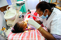 MADAGASCAR Antananarivo , dentist clinic, child during check-up