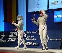 Deutsche Meisterschaft DM 2013 Fechten Säbel in Tauberbischofsheim - im Bild: Halbfinale Damensäbel - Deutsche Meisterin Stefanie Kubissa (Dormagen). Foto: Norman Rembarz