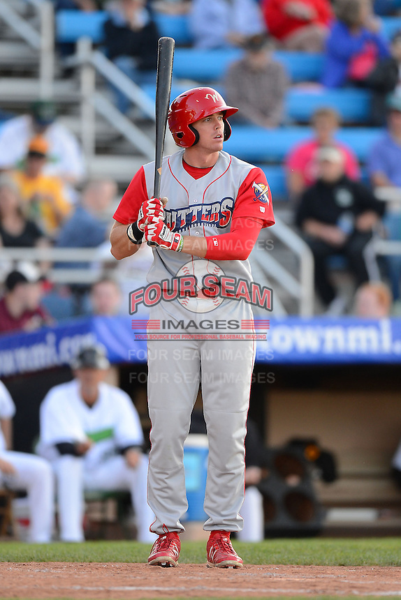 Williamsport Crosscutters third baseman Zach Green #12 during a game against the Jamestown Jammers on June 20, 2013 at Russell Diethrick Park in Jamestown, New York.  Jamestown defeated Williamsport 12-6.  (Mike Janes/Four Seam Images)