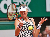 Paris, France, 28 June, 2016, Tennis, Roland Garros, Kristina Mladenovic (FRA)<br /> Photo: Henk Koster/tennisimages.com