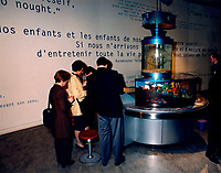1999 FILE Photo, Montreal, Canada<br /> <br /> Educational display about environment and water in the Montreal Biosphere (the former US pavillion designed by Buckminster Fuller for the Montreal 1967 Universal exposition)<br /> <br /> Mandatory Credit: Photo by Pierre Roussel- Images Distribution. (©) Copyright 1999 by Pierre Roussel