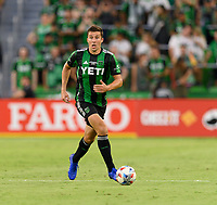 AUSTIN, TX - JUNE 19: Matt Besler #5  of Austin FC looks to pass the ball during a game between San Jose Earthquakes and Austin FC at Q2 Stadium on June 19, 2021 in Austin, Texas.