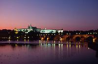 Tschechien, Prag, Hradschin, Moldau