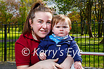 Megan Galvin with her son Keogh Heaphy enjoying the playground in the Listowel town park on Thursday