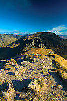 Beinn Narnain from The Cobbler, the Arrochar Alps, Loch Lomond and the Trossachs National Park, Argyll & Bute
