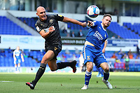 13th September 2020; Portman Road, Ipswich, Suffolk, England, English League One Footballl, Ipswich Town versus Wigan Athletic; Kal Naismith of Wigan Athletic competes for the ball with Alan Judge of Ipswich Town