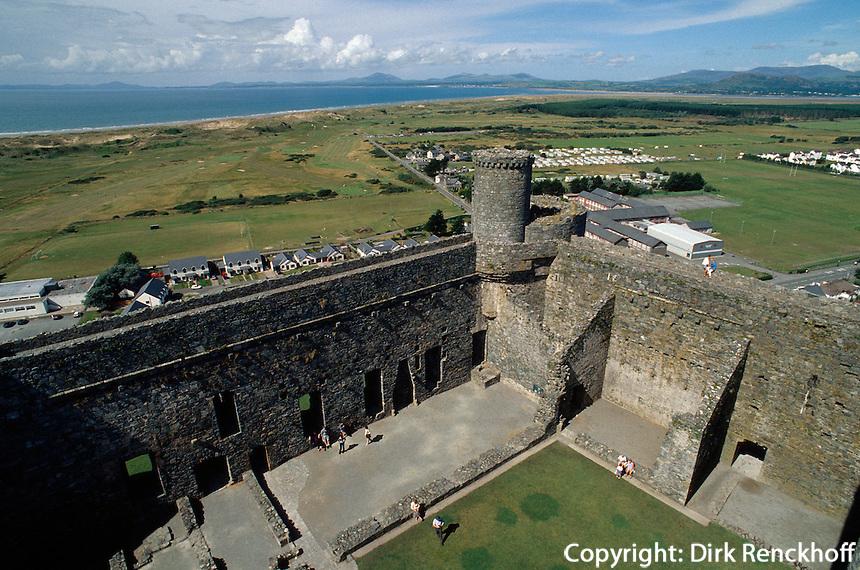 Großbritannien, Wales, Burg von Harlech, Unesco-Weltkulturerbe
