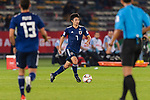 Shibasaki Gaku of Japan in action during the AFC Asian Cup UAE 2019 Group F match between Oman (OMA) and Japan (JPN) at Zayed Sports City Stadium on 13 January 2019 in Abu Dhabi, United Arab Emirates. Photo by Marcio Rodrigo Machado / Power Sport Images