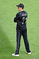 20th March 2021; Dunedin, New Zealand;  Trent Boult wears Henry Nicholls shirt during the New Zealand Black Caps v Bangladesh International one day cricket match. University Oval, Dunedin.