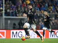 Calcio, Serie A: Frosinone vs Juventus. Frosinone, stadio Comunale, 7 febbraio 2016.<br /> Juventus' Alvaro Morata in action during the Italian Serie A football match between Frosinone and Juventus at Frosinone's Comunale stadium, 7 January 2016.<br /> UPDATE IMAGES PRESS/Isabella Bonotto