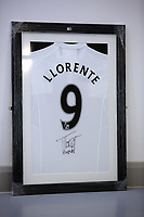 A Swansea top signed by Fernando Llorente to be sold at auction by Swansea City FC Community Trust. Fairwood Training Complex in Swansea, Wales, UK. Wednesday 29 March 2017