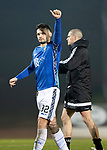 St Johnstone v Hamilton Accies…19.01.19…   McDiarmid Park    Scottish Cup 4th Round<br />Thumbs up to the fans from Tony Watt at full time<br />Picture by Graeme Hart. <br />Copyright Perthshire Picture Agency<br />Tel: 01738 623350  Mobile: 07990 594431