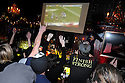 New Orleans Saints fans  celebrate a Reggie Bush touchdown in the first quarter at the R Bar while watching the NFC Championship game against the Minnesota Vickings, New Orleans, Sunday, Jan. 24, 2010..(AP Photo/Cheryl Gerber)