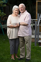 BNPS.co.uk (01202 558833)<br /> Pic: BNPS<br /> <br /> Two octogenarians have tied the knot after their relatives hooked them up using an online dating app.<br /> <br /> Euan Coffin, 84, and Freda Clark, 81, both suffered bouts of loneliness after their long-term spouses died.<br /> <br /> Euan's daughter Theresa Vincent set him up with his own profile on the dating website Silver Surfers which is aimed at single people aged 50 and over.<br /> <br /> Not long after, Freda's granddaughter Holly did the same for her and she was inundated with friendship requests from older men.