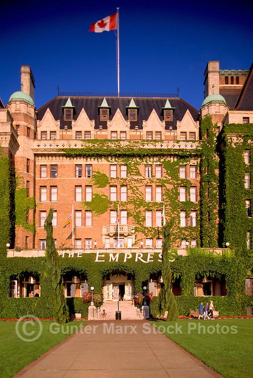 Historic Fairmont Empress Hotel, Victoria, BC, British Columbia, Canada
